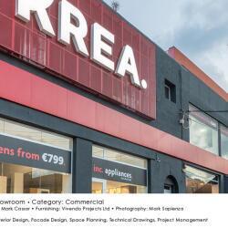 Black Beetle Design Krea Showroom Commercial Facade Design External View
