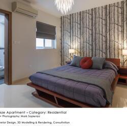 Black Beetle Design Seabreeze Apartment Residential Interior Design Spare Bedroom